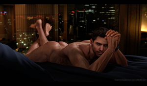 Naked Chris Redfield by DaemonCollection