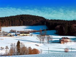 Winter wonderland scenery on a sunny afternoon by patrickjobst