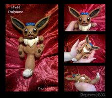 Eevee Sculpture Commission by stephanie1600
