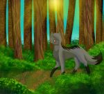 Forest Wanderer by Cheetaglow