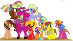 Mane Six with Fudgie Brown and Festro by MonstrousPegasister
