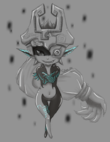 Twiligth Midna Sketch by Fabinne