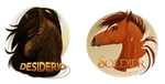 Desiderio and Soldier Badges by Plaguedog