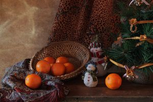 About tangerines and snowmen 4 by An-gora