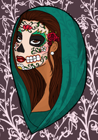 Santisima Muerte Colored by Biana117