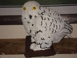 Paper Mache Owl by Lyndsey-Catastrphe