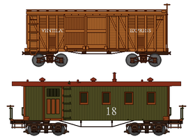V+T-Style Freight Cars by Atticus-W