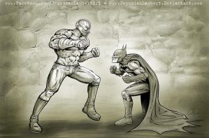 Bane vs Bat -  Jan 3 '14 Art Jam by JeremiahLambertArt