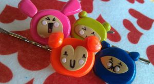 Kawaii Kharacter Style Bobby Pin Set by Gynecology