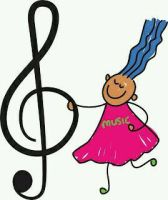 Girl with music note by amberbateman