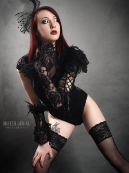Snow-White Black Lace by Mister-Denial