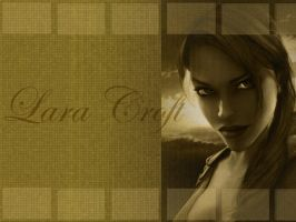 Lara Croft - Wallpaper by garnet2424