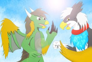 Hidden Temple (griffin and phoenix TF) by Wolfeenix