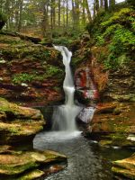Ricketts Glen State Park 100 by Dracoart-Stock