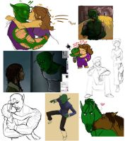 Piccolo Sketchdump by bunnicustard
