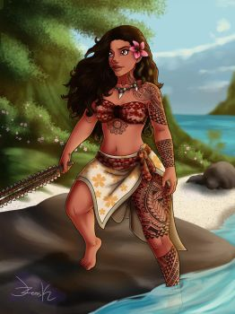 Moana inspired by J-ZeroSK