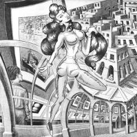 Non Euclidean Escher Girl by sqbr