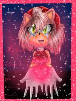My heart belongs to you: Amy rose by SweetCandilin