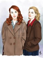 Kate Andrews and Betty Mcrea From Bomb girls by cgtang