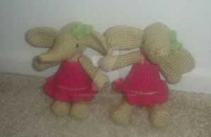 Amigurumi Elephants by iheart8bit