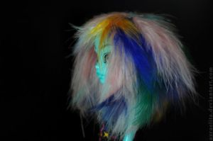 Inner Monster High blue feather wig 3 by Azraelita