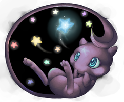 Mew and Stars by HorrorDance