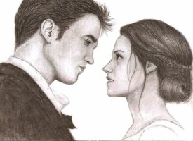 Edward and Bella by MajaGantzi