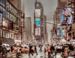 Foggy day in Time Square by olideb08