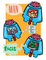 Man-E-Faces by Ryu-Ando