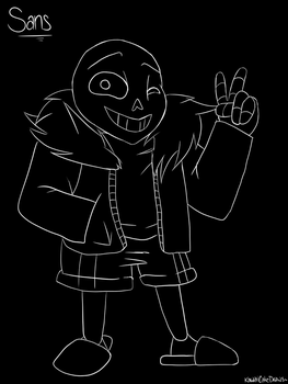 Sans - Undertale by KawaiiCakeDraws