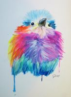 Bird watercolor sketch by Jaylynessa
