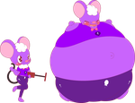 *Request* | Floasis the Helium Balloon Mouse~ | by IndiePerverture