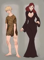 Golden and scarlett by Ailovc