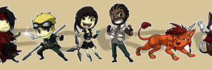 Stickers: Final Fantasy VII 2 by forte-girl7