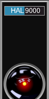 HAL 9000 Front Plate Vector SVG by caffeinejunkie