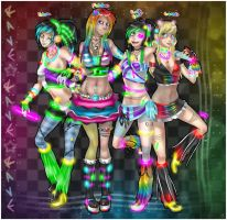 Rave Chicks by Sparkleee-Sprinkle