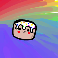 Marshmallow in the rainbow! :3 by Ueggeu
