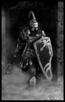 Warrior on Dungeon by Liarath