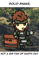 Solid snake and earth day by thegamingdrawer