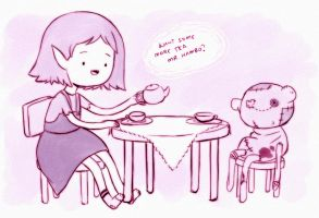 Tea Time w Marceline and Hambo by mayukichan