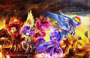 MLP: Warriors by AquaGalaxy