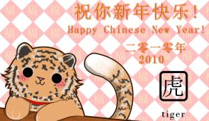 Year of the Tiger- 2010 by EclispeFlower