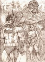 Swap Thing's War or Gotham City by MisterHydesSon