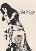 Kat Von D Screen Print by predator-fan