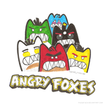 Angry Foxes by PizzaFisch