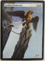 Griffin Protector alter art by Abystoma