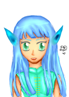 Elf Blue by KirieSan