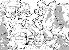 OWL Characters b4 color by Njaga