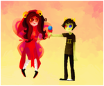 Aradia and Sollux by calallini