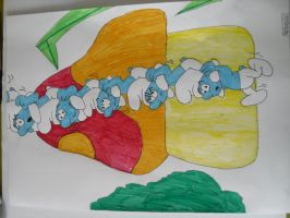 The smurfs by RebeccaG1999